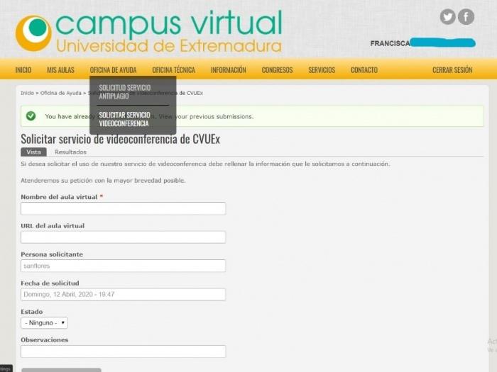 Videoconferencia Zoom Documentacion Campus Virtual De La Uex